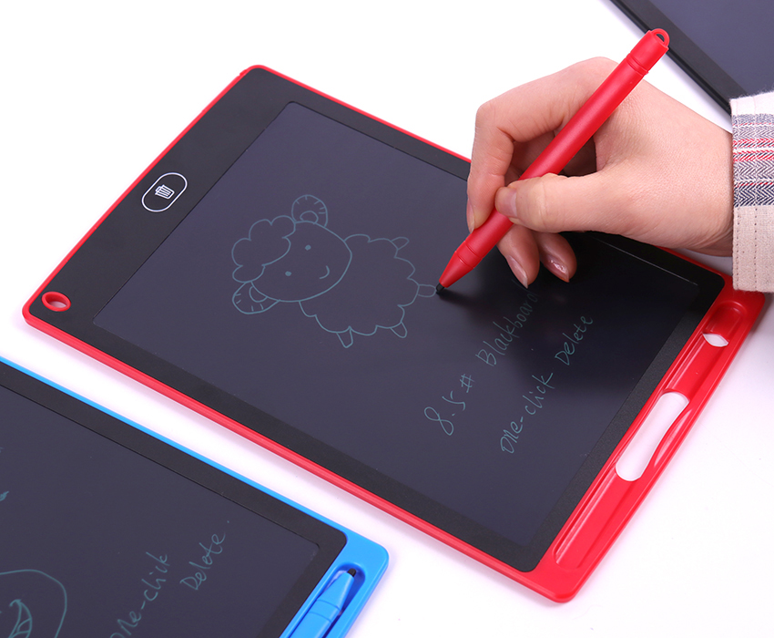 8.5 Inch Write Board Lcd With Lock Screen Button E-Learning Drawing Digital Graphic Input Board Memo Information Bulletin Board Screen Gift Children School Cafe Kitchen