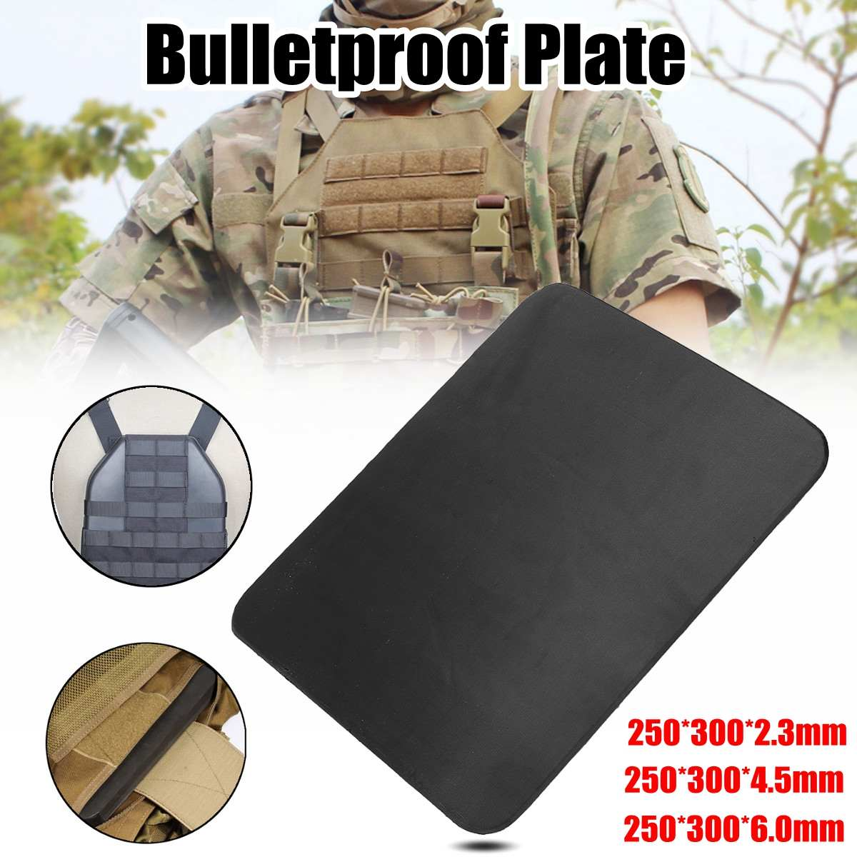 2.3mm Anti Ballistic Bulletproof IIIA Stand Alone Body Armour Alloy Steel Plate