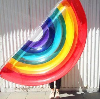 Arco Iris PVC 190*96cm Silla De Asiento De Baño Bebé Piscina Silla De Comedor Juego Portátil Juego De Juego Sofás Taburete De Aprendizaje