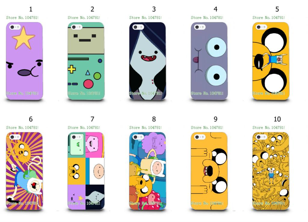 Online-custom fashion design adventure time hard plastic back case cover for IPHONE 5 5s Free Shipping