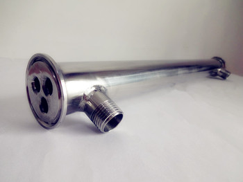 """Free Shipping 1.5""""(38mm) OD50.5,Stainless Steel304 Condenser 450mm,3 Pipes Inside ID 8mm,Connection External Thread NPT 1/2"""""""