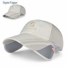 Мода Унисекс Мужские Женщины Полиэстер Широкими Полями Бейсболка Регулируемая Дышащий Открытый Шлем, Шляпа Человек Кость Женщины Гольф шляпы
