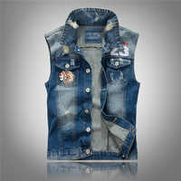 2015 New Fashion Slim Vest For Men Good Quality Colete Jeans Masculino 3870