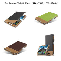 Luxury Business PU Leather Case Cover Tablet Stand Skin Funda Capa For Lenovo Tab4 8 Plus