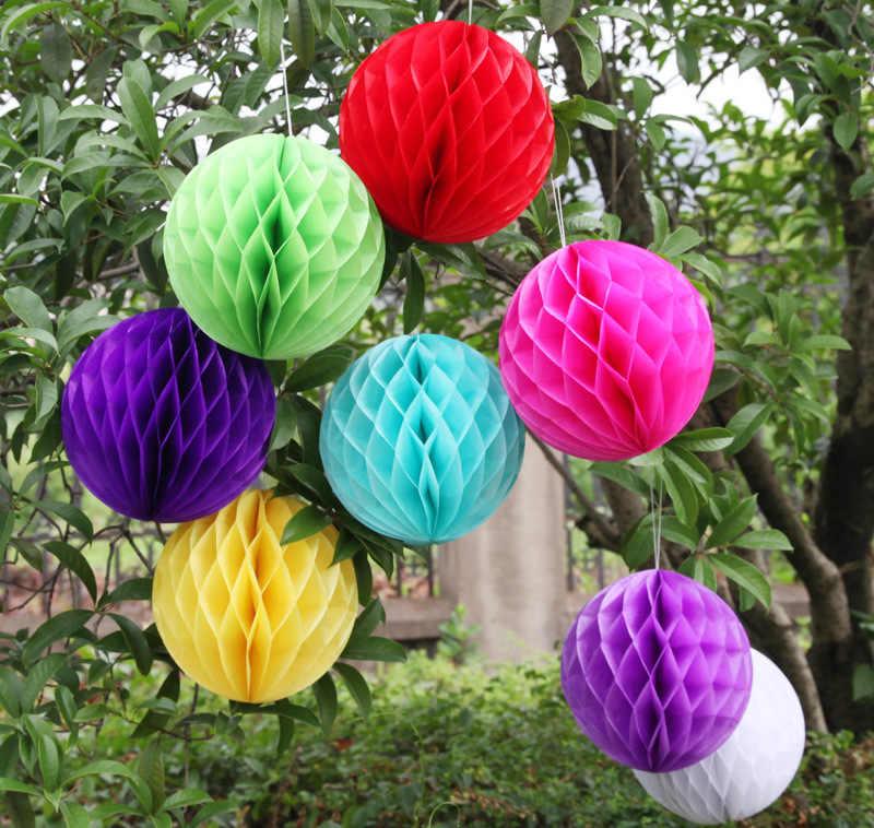 """10 เซนติเมตร 4 """"ลูกรังผึ้งดอกไม้โคมไฟกระดาษ Babyshower วันเกิดตกแต่ง Lampion งานแต่งงานเทศกาลคริสต์มาสอุปกรณ์"""