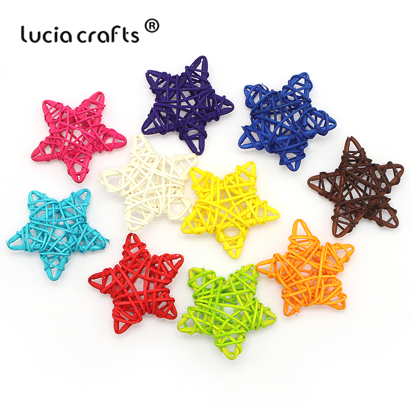 Open-Minded Lucia Crafts 5pcs/10pcs 6cm Rattan Ball Sepak Takraw Christmas/birthday Wedding Party Ornament Diy Gifts Decor Supplies 024066 Festive & Party Supplies