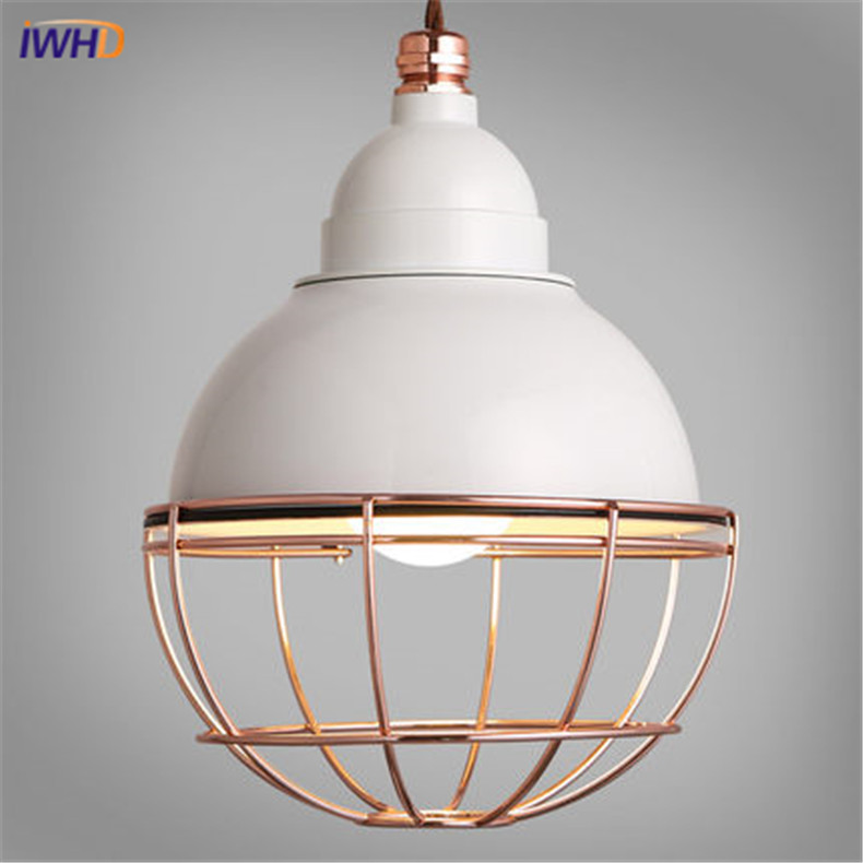 Nordic Style Iron Cage Pendant Lamp LED Vintage Industrial Lighting Fixtures Loft Retro Droplight Bar Bedroom Restaurant Home vintage iron pendant light loft retro droplight bar cafe bedroom restaurant metal cage ith led bulb hanging lamp ac110v 220v e27
