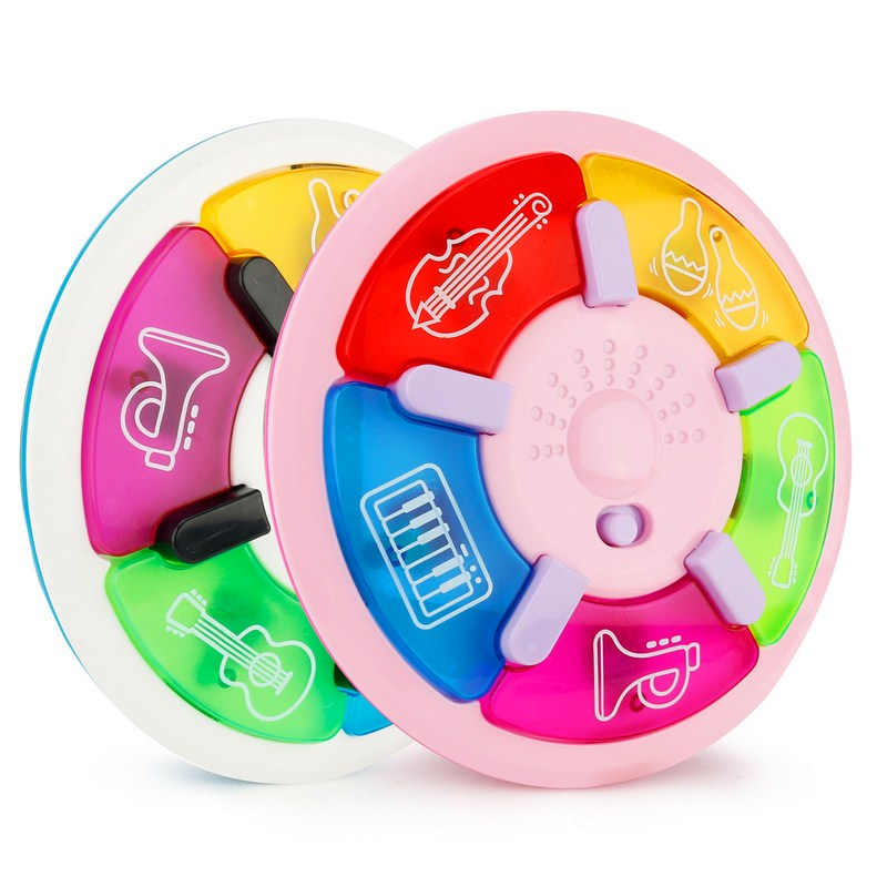 Cartoon Music Multi-function Tapping Music Plate Vocal Rhyme Developmental Music Sound Education Toy for Baby Kids