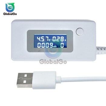 4 V-30 V 50mA-3000mA potencia LCD capacidad de voltaje probador voltímetro Digital amperímetro corriente voltímetro cargador USB de la batería