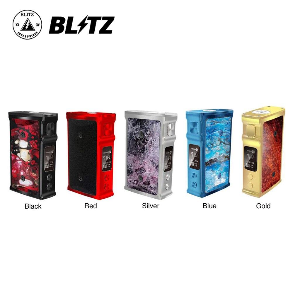 Original 200 W Blitz M1911 TC Box MOD avec écran OLED de 0.91 pouces et bouteille de compression de 10 ml No 18650 batterie Mod Box Vs glisser 2/Luxe Mod