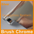 Free shipping wholesales high quality car sticker wrap vinyl film brush mirror chrome 1.52*30M with air bubble free BW-8011