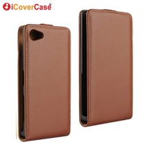 For Sony Z5 Compact Case Coque Vertical Flip Leather Cover for Sony