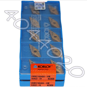 KORLOY  VNMG160404-HM NC3030  VNMG331-HM NC3030  10pcs Quality goods New original