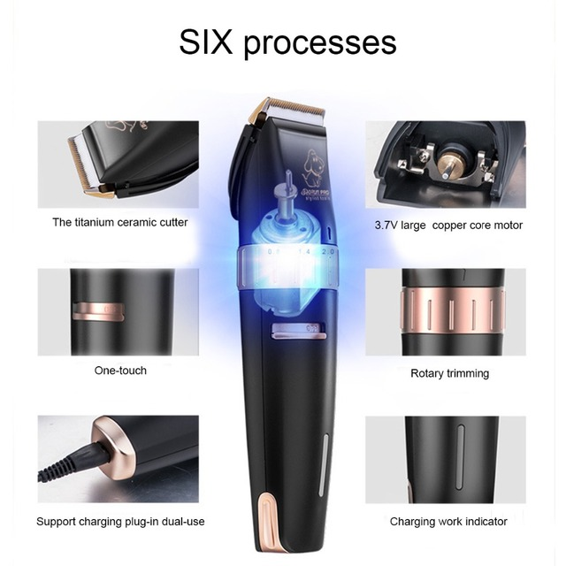 BaoRun T2 Cat Dog Hair Trimmer Electrical Pet Hair Clipper Remover Cutter Dog Grooming Pet Product Haircut Machine 110V-240V