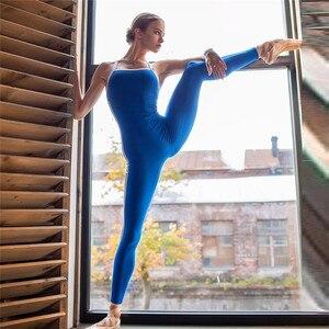 Image 3 - Mono deportivo para mujer, conjunto de Yoga femenino, ropa deportiva Sexy para entrenamiento, ropa de gimnasio, chándal para correr, 1 unidad