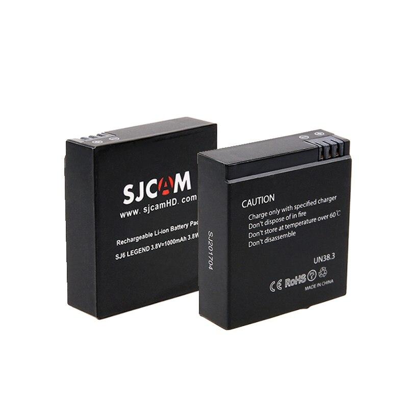 2Pcs/lot 1000mAh Rechargeable Li-ion Original SJCAM SJ 6 SJ6 Batteries For SJCAM SJ6 Legend /air Action Camera