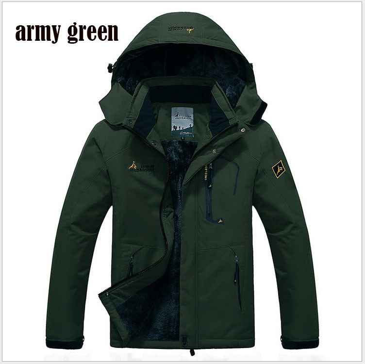 Winter Parka Men Windbreak Plus Velvet