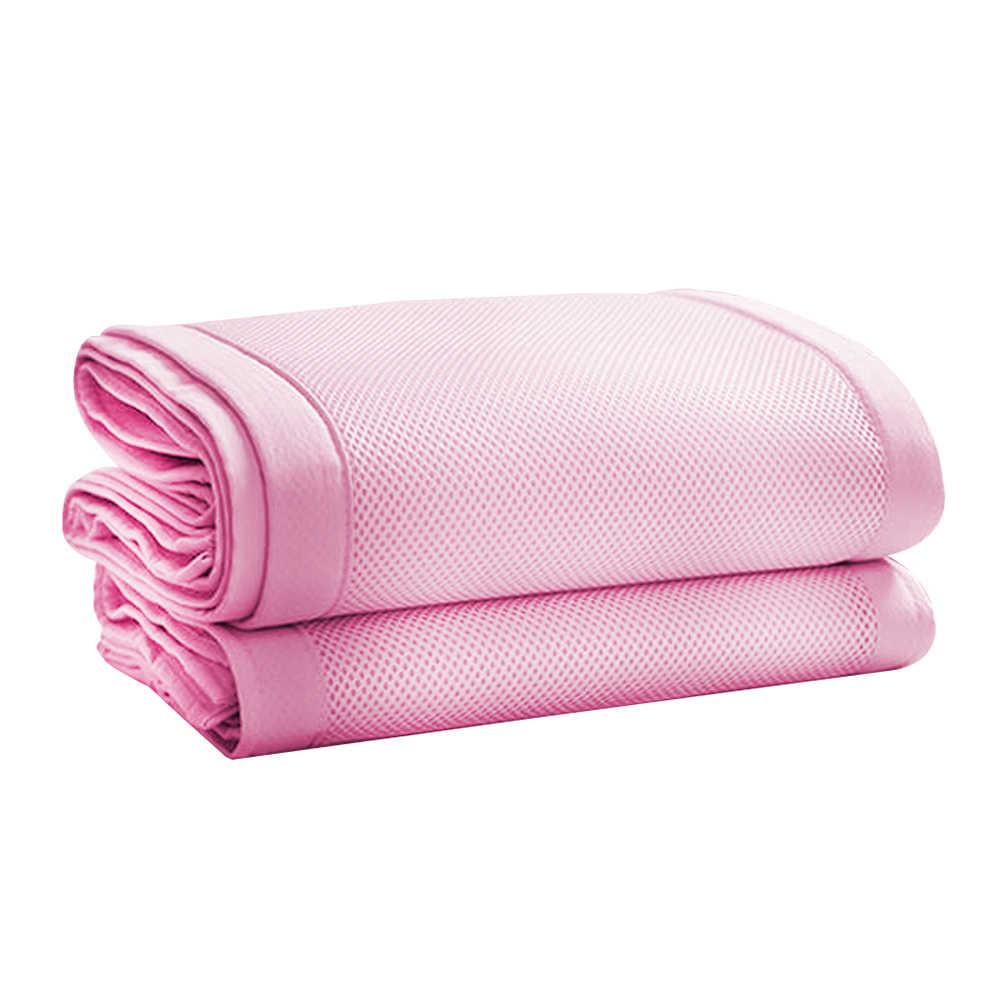 Mudah Dicuci Bayi Crib Bumper Pad Set Penjaga Tempat Tidur Tidur Keselamatan Bernapas Nursery Cradle Pelindung Ukuran Disesuaikan untuk Anak-anak