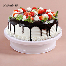 27.5cm Kitchen Cake Decorating Icing Rotating Turntable Cake Stand White Plastic Fondant Baking Tool DIY 03106