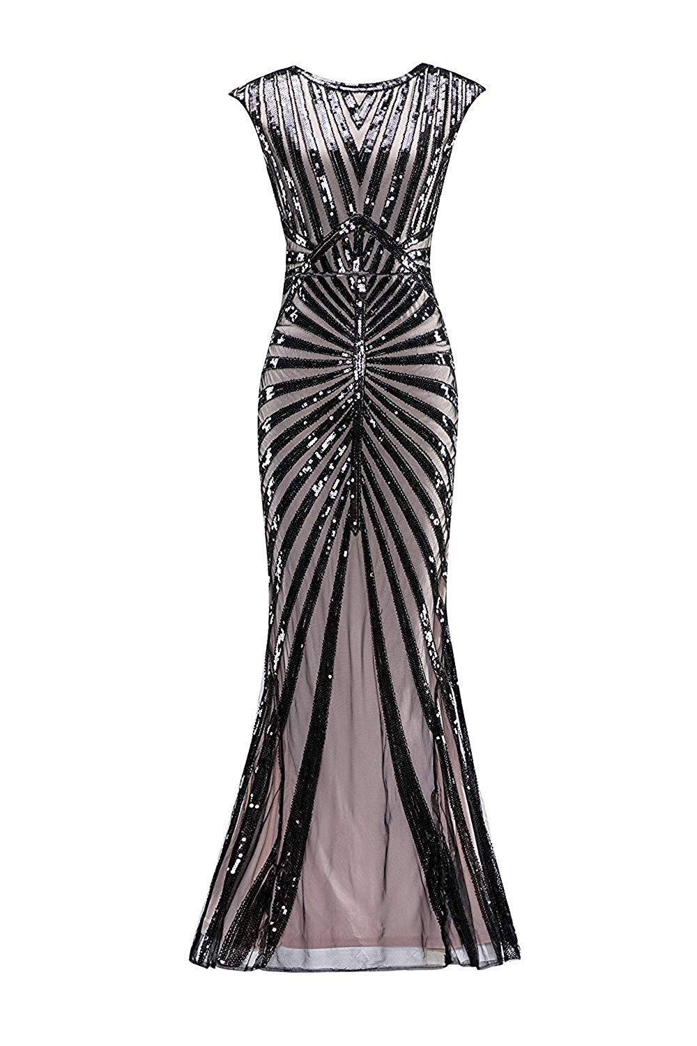 Plus size Formal Evening Dress 1920s Sequin Mermaid Formal Gatsby ...