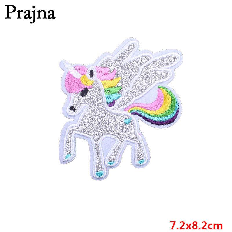 般若虹パッチユニコーン馬夢キャッチャーアイアンでパッチゲイロゴかわいい布刺繍バッジジーンズ Diy 服