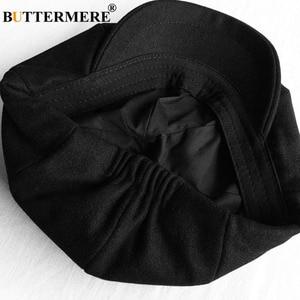 Image 5 - BUTTERMERE Мужская кепка в елочку, Шерстяная кепка газетчика, мужская темно серая зимняя Классическая восьмиугольная кепка, винтажная шляпа британского художника