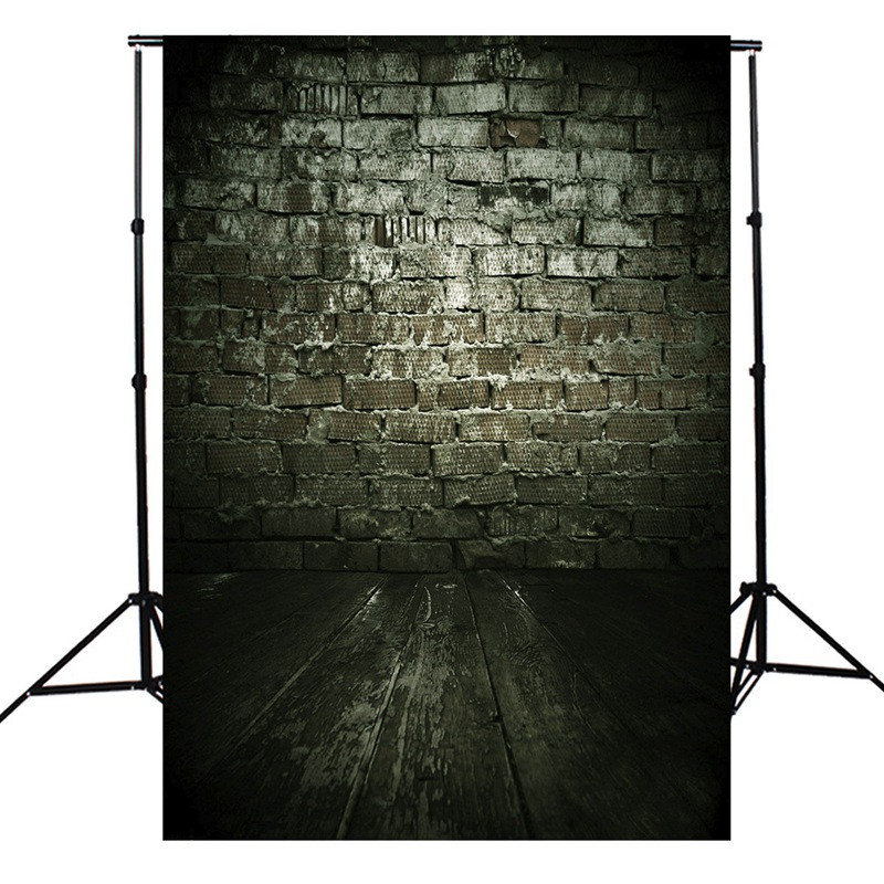 xft negro retro de fondo de ladrillo photography pared piso de madera telones fotogrficos de tela