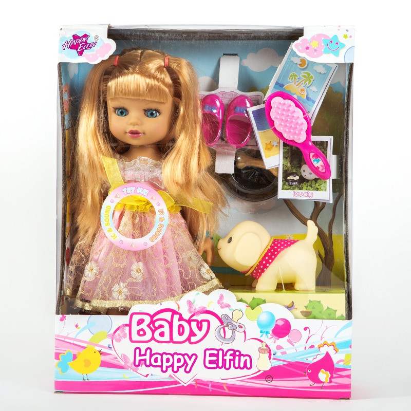 Factory Fashion Doll Girl Long Wavy Hair With Bangs Hot Style soft Body 4 Colors Suitable For DIY Doll Suit Best Gift