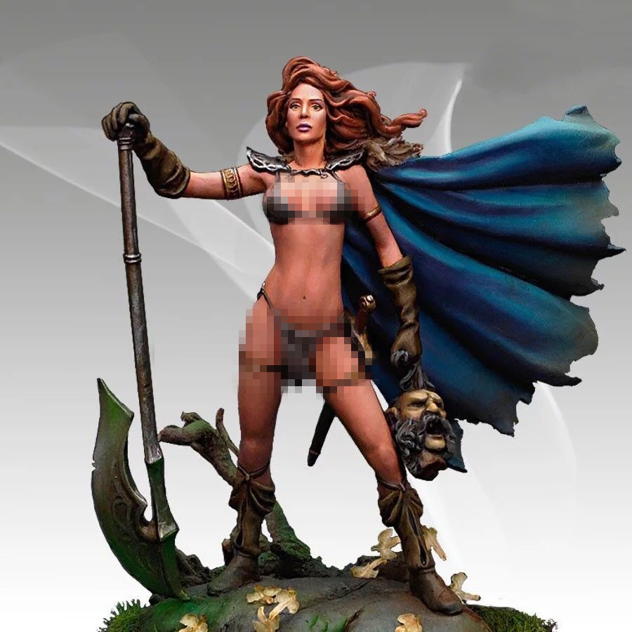 1/32 65mm Resin Figures Female War God Lord Fantasy Character Unpainted Kit G80D
