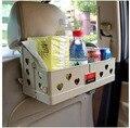 El nuevo plegable del asiento de coche de la silla de comedor mesas y bandeja de bebidas vehículo contador de montaje caja de grandes bienes de calidad