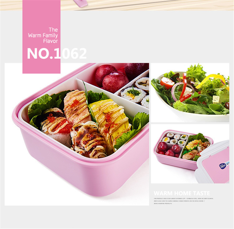 ONEUP Lunch Box Eco-Friendly Portable Food Container With Bags Tableware Microwavable Bento Box For kids Picnic School Office 6