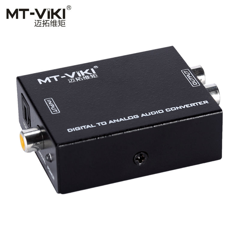 Toslink Coaxial Digital Audio to L/R Analog Stereo Audio Converter Adapter Connector MT-VIKI DA21 digital optical coaxial toslink to analog rca l r audio digital converter adapter dc 5v 1a with usb cable high speed