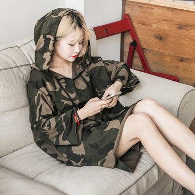 Free Camouflage Informal Girls Hoodies Sweatshirts Batwing Sleeve Womens Pullover Lengthy-Time period Pupil Harajuku Bf Tide Hoodies