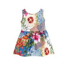 Kacakid Kids Baby Girl Dress 2017  for Children Short Sleeve Girls Cotton Party Princess Dresses