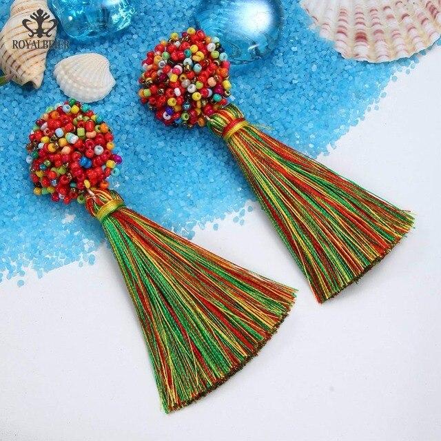 Luxury Beads Tassel Dangle Earring