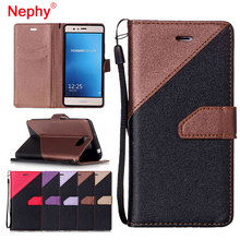 Nephy Splice Leather Case For Huawei P9 Lite P9lite 2017 Honor 5A LYO-L21 Y5 Y3 Y6 II Y3II Y5II Compact Silicone Phone Cover