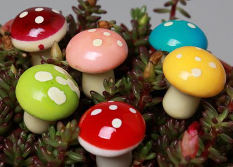 unids mushroom color miniatura ornamento de hadas del jardn maceta maceta decoracin del hogar p