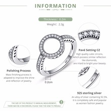 925 Sterling Silver Circle Round Rings