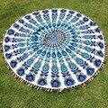 2017 New Durable Towel Blanket Table Mat Round Hippie Tassel Tapestry Beach Throw Mandala Towel Yoga Mat Bohemian Scarf Cloth