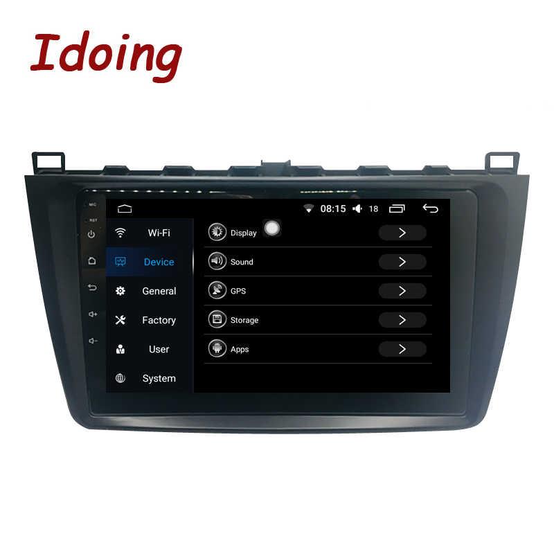 """Idoing 1Din 9 """"カーラジオマルチメディアプレーヤー 4 グラム + 64 グラム Android 8.0 フィットマツダ 6 Ruiyi 超 2008-2015 GPS ナビゲーションステアリング輪"""
