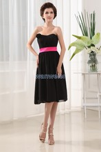 free shipping 2014 new design vestidos formales hot seller brides maid dress short black  girls party prom evening dresses
