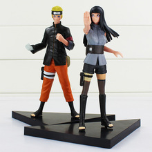 Naruto 2pcs/lot Anime Uzumaki Hyuga Hinata Solid Set PVC Action Figure Model Collection Toy