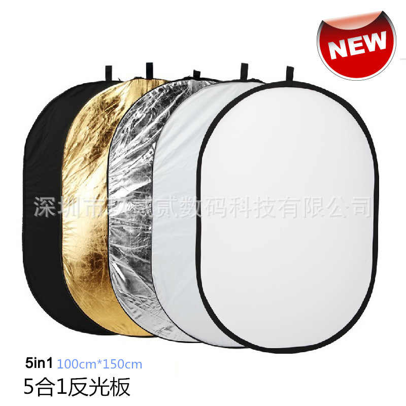 Tycipy 90*120 Cm 5in1 Ringan Dilipat Photography Reflector Foto Studio Foto Oval Reflektor Fotografi Accessorie Pencahayaan
