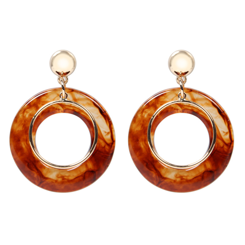 ORNAPEADIA Brand Jewelry Acrylic Earring Trendy high quality earring Anti-allergy acrylic stud round earrings 2018 new style