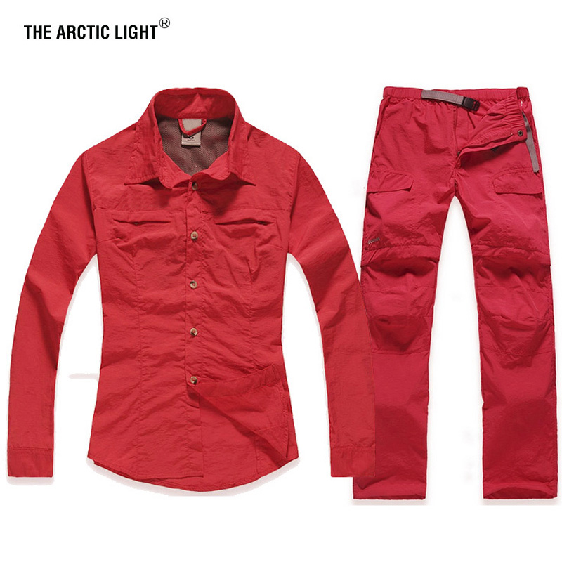 THE ARCTIC LIGHT Climb Trekking Camping woman fast-dry shirt and pant suit breathable&Anti UV female 20minutes quick-dry set artemis fowl and the arctic incident