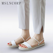 Plus Size 34-43 Women Flat with Sandals new lady open-toe sandals Casual Ladies Beach slippers woman summer Roman sandals shoes senza fretta women shoes fashion summer beach women sandals casual women flat sandals slippers casual female sandals plus size