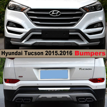 Bumper Protector Guard Plate For Hyundai Tucson 2015.2016.High Quality Brand New ABS Front+Rear Bumpers Car Accessories