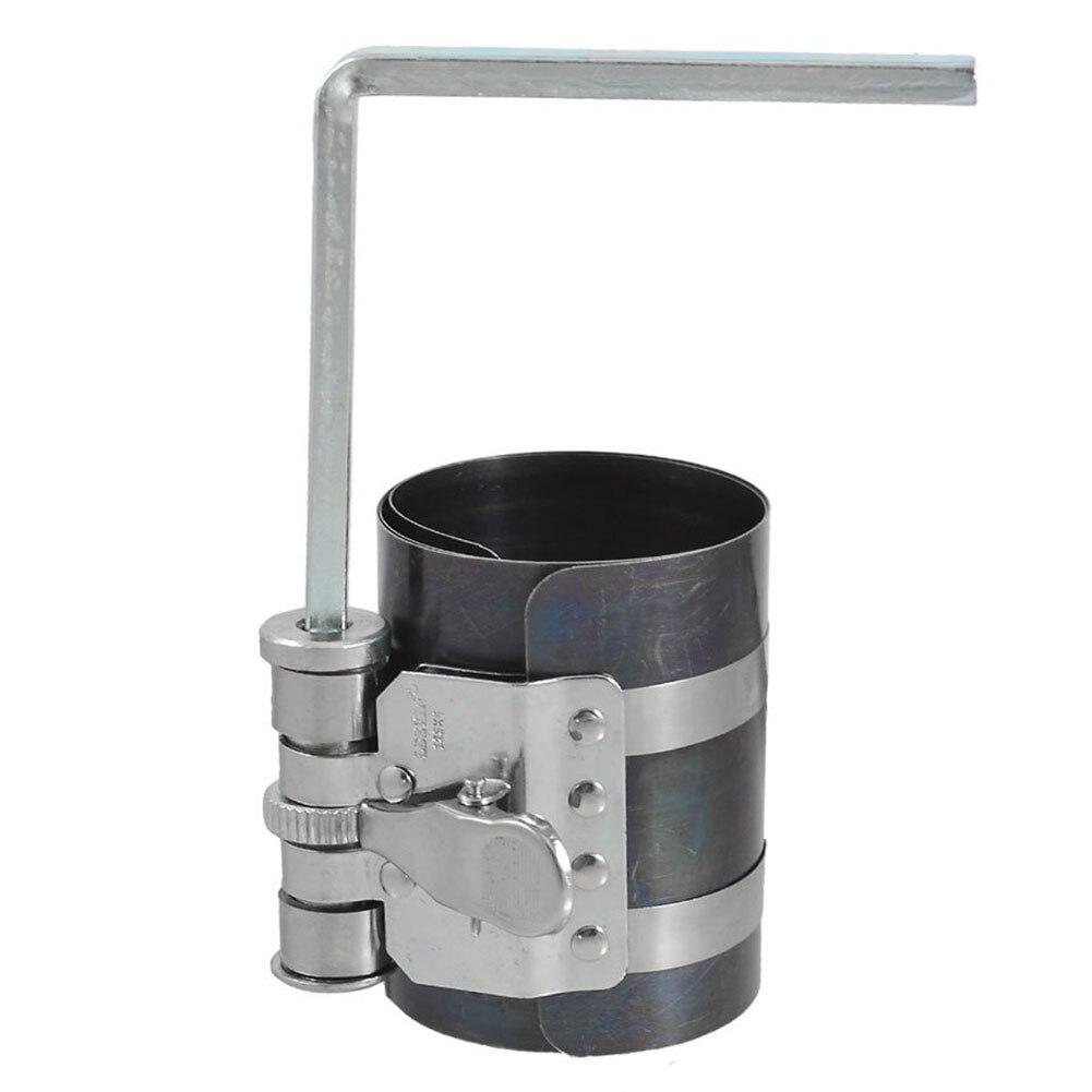 Лучшая цена 53-125 мм Емкость поршневого кольца компрессора Автомобильный Ручной инструмент, серебристый + черный синий