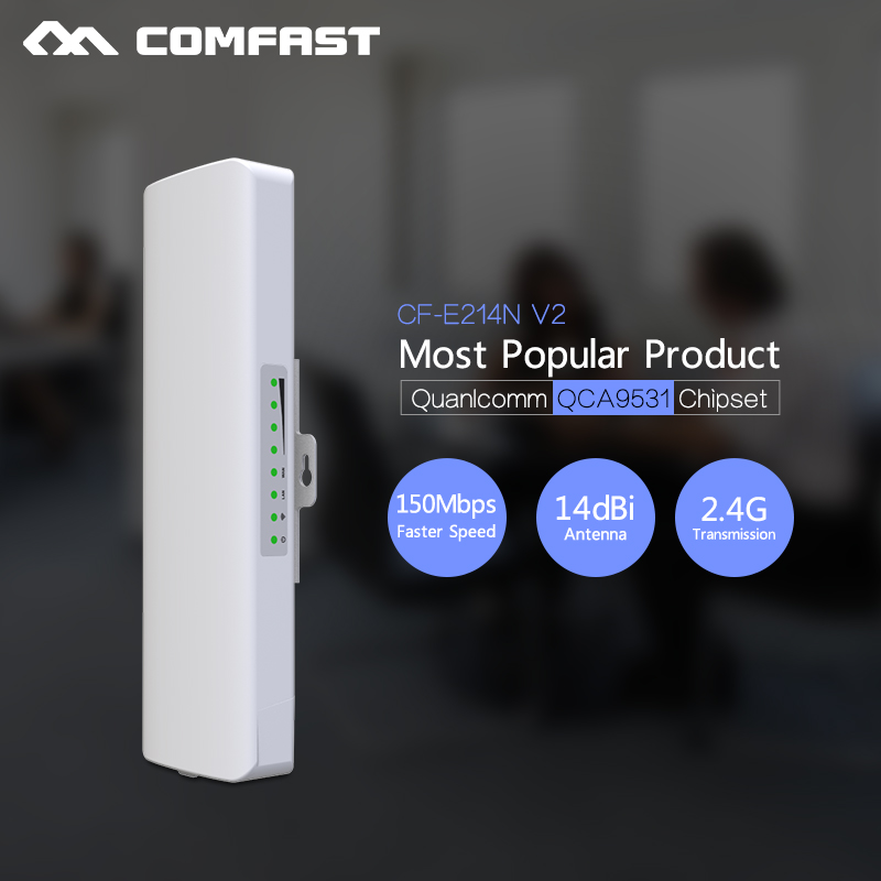 Wireless outdoor router Comfast CF E214N 150M WIFI signal booster 2 4Ghz 14dBi Antenna wi fi