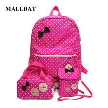 MALLRAT School Bags for Teenagers Girls Schoolbag Large Capacity Dot Printing School Backpack Rucksack Bagpack Cute Book Bags
